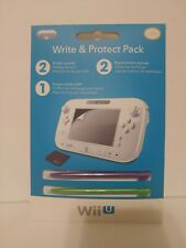 PDP Write & Protect Pack Nintendo Wii U Control Pad Screen Protector Brand New