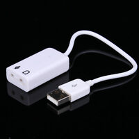 USB 2.0 3D Sound Card Adapter External Virtual 7.1 Channel Audio PC Laptop Great