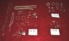 71.1 Gram Lot 10K 14K Gold & Silver Rings Pendants Chains Scrap or Not Repair
