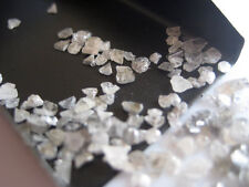 50 Carats White Diamond Slice Natural White Rough Chips Raw Uncut 2mm-5mm CB20