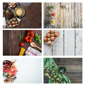 Kitchen Food Vegetables Eggs Background Photography Backdrop Photo Prop Cloth