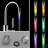 7Colors Change LED Light Shower Head Water Bath Home Bathroom Glow Romantic New