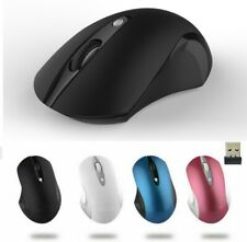 Wireless Silent PC Mouse Quiet Button Adjustable 1600DPI Optical Mice USB Dongle