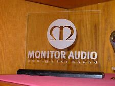 MONITOR AUDIO ETCHED GLASS SIGN / PLAQUE