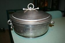 Nasco Italy 3 pc Hammered Aluminum Insulated Casserole Pyrex Divided Glass Dish
