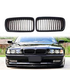 Black Front Kidney Hood Grille For BMW E38 740i 740iL 750iL 4 DR Sedan 1995-2001