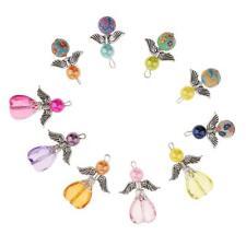 10 Stück gemischt Engel Flügel Charme Perle Anhänger DIY Schmuck Handwerk