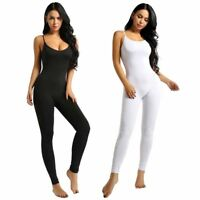 Women Sleeveless Jumpsuit Bodycon Bodysuit Playsuit Pants Slim Fit Leotard Top