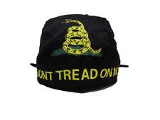 Don't Tread On Me Gadsden Black Yellow Snake Do Rag Doo Rag Skull Cap Head Wrap