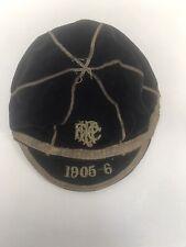 More details for velvet antique edwardian rugby union or cricket cap 1905/1906 school honours cap