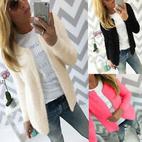 Women Casual Long sleeve Knitted Cardigan Loose Sweater Knitwear Jumper Tops NEW
