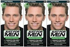 Just for Men Hair Colour in H-25 Light Brown - Natural Look - 3 Piece