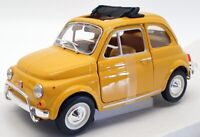 Burago 1/24 Scale Model Car #18-22099Y - 1968 Fiat 500L - Yellow