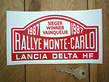 Lancia Delta Hf Rally de Monte Carlo Winner 1987 pegatina 7 pulgadas coche clásico Rallye Carrera