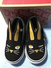 VANS New Slip-On Bunny Black / Gold Toddler Size USA 4.5