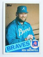 Ken Oberkfell #569 Topps 1985 Baseball Card (Atlanta Braves) VG