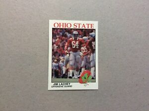 Ohio State University Football Card Jim Lachey Mint   OSU. Go Bucks