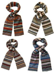 Lambswool Fairisle Thick Scarf - Lochinver - Made in Scotland