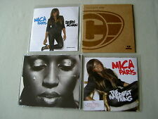 MICA PARIS job lot of 4 CD/promo CDs Born Again The Hardest Thing Stay One