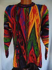 Vintage COOGI AUSTRALIA SWEATER Knit MERCERISED Cotton 3D Medium 74095