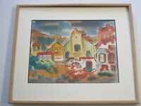 ERLE LORAN PAINTING 1940'S ABSTRACT EXPRESSIONISM MODERNIST VIRGINIA CITY 1936