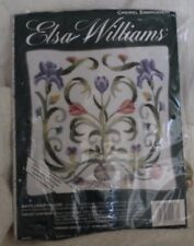 "Rare Jacobean Style Elsa Williams ""Mayflower Pillow"" Crewel Embroidery Kit"