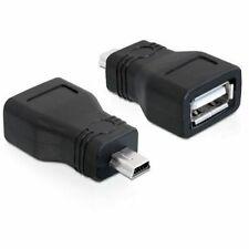 Adaptador USB 2.0 hembra a mini USB macho  Negro - G