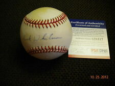 DICK WHITMAN OFFICIAL NATIONAL LEAGUE BALL BROOKLYN DODGERS  PSA/DNA  !!