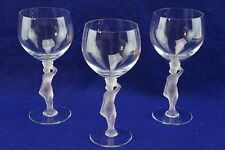 Bayel Bacchante Frosted Nude Stem (3) Water Goblets, 7 3/8""