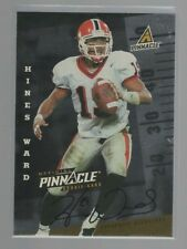 1998 Pinnacle Hines Ward Autograph Rookie Card (Steelers/Bulldogs RC) 1 of 500