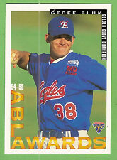 1995 AUSTRALIAN BASEBALL CARD #89  GEOFF  BLUM, GOLDEN  GLOVE  CHAMPION