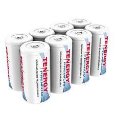 Tenergy 8PCS Premium C Size 5000mAh High Capacity NiMH Rechargeable Batteries C