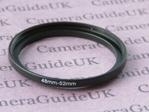 48mm to 52mm Male-Female Stepping Step Up Filter Ring Adapter 48mm-52mm