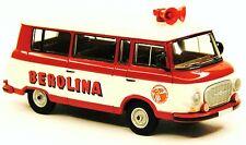 H0 BREKINA Barkas B 1000 KB Kleinbus Zirkus BEROLINA Staatszirkus DDR # 30033