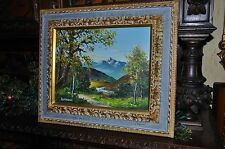 Old Japanese Landscape  incredible Artwork Oil on Canvas