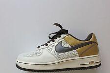 Nike Air Force I 1 Premium '07 Sail/Brown-Gold Michael Cooper 315087-121 Size 8