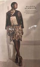 NWT $3490 Ralph Lauren Purple Label Gold Metallic Runway Dress Size 4