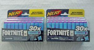 60 (2x30 Pack) Official Nerf Fortnite Darts Elite Battle Royale Dart Refills