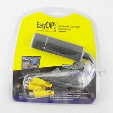 USB 2.0 Easycap 4CH DVR CCTV Camera Audio Video Capture Adapter Recorder for PC