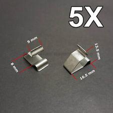5X Sheet Metal Clamp, metal retaining clips, plug-in clips for Audi, VW, Skoda