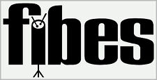 FIBES type sticker/decal (black on white vinyl for heads or case) x2 COPIES. *