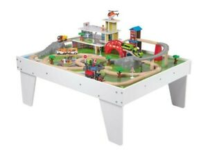 Playtive Junior White Wooden Play Train Table 89 Piece Set Ages 3-8 Year olds
