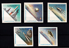 YEMEN ARAB REPUBLIC NEW Imperforates Stamps Yvert Tellier A 9/13 Space Spazio