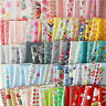50PCS 10x10cm DIY Square Floral Cotton Fabric Patchwork Cloth For Craft Sewing