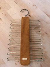 Vintage Hanging Tie Rack West Germany Wood And Metal Storage Accessory