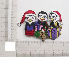 Christmas Penguin Friends Iron on Applique x 1 piece