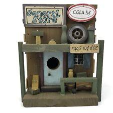 """Vintage Wooden """"Bird House"""" General Store Indoor or Outdoor Garden Home Decor"""