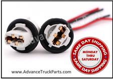 LED Bulb Brake Tail Signal Light Socket Harness Wire 2pcs 7440 T20