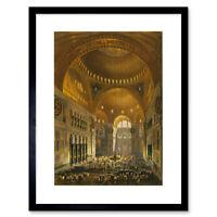 Paintings Landscape Aya Sofya Mosque Islam Haghe Istanbul Framed Wall Art Print