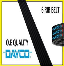 DAYCO Poly-V Ribbed Belt 6 Ribs 1100mm 6PK1100 Auxiliary Fan Drive Alternator